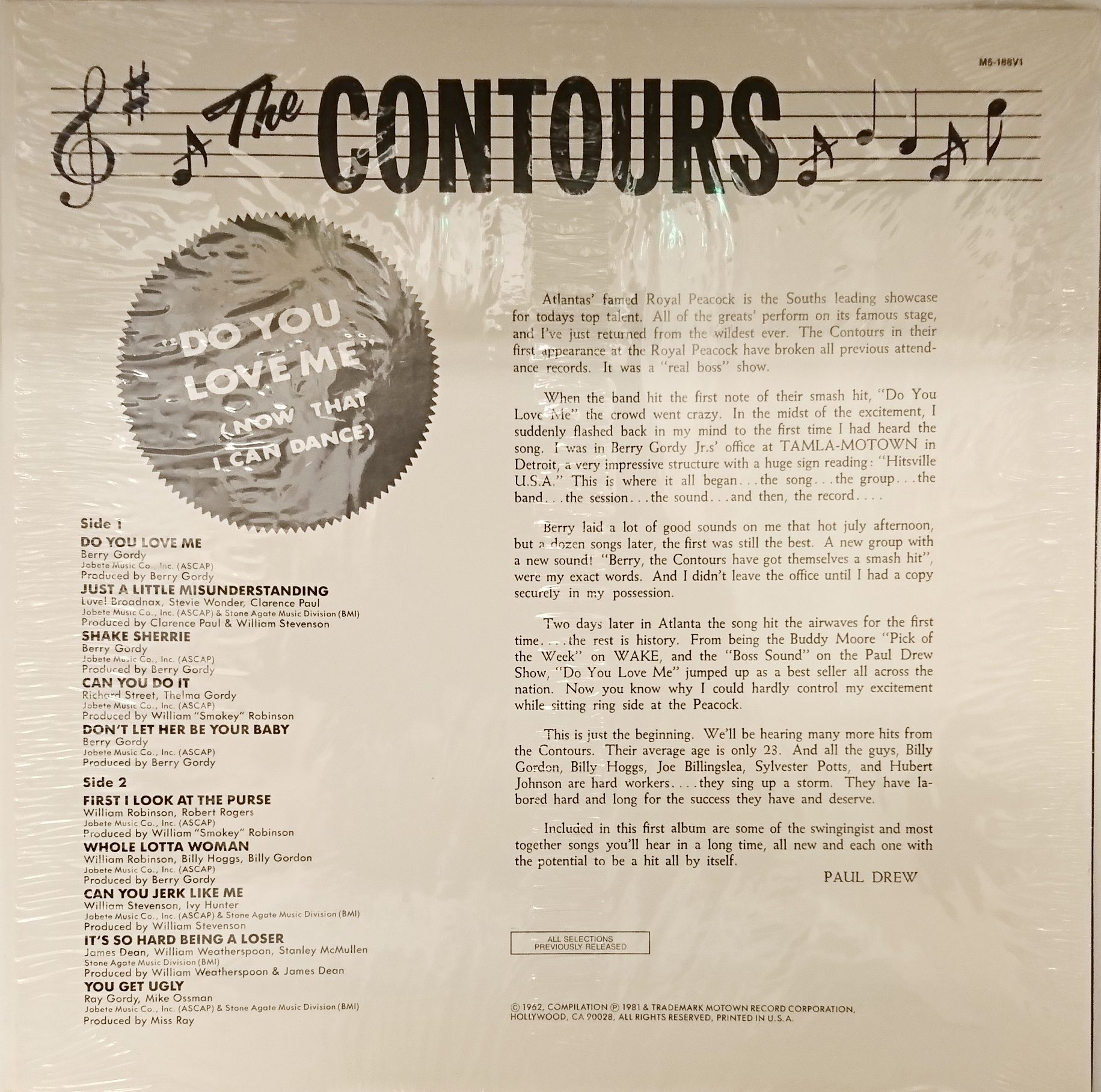 the contours do you love me now that i can dance 中古